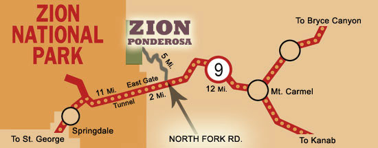 Zion Ponderosa map, courtesy of Zion Ponderosa, St. George News