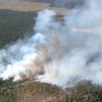 High Meadow Fire burns 55 miles southeast of St. George, Utah, near Mt. Trumbull and Potato Valley on the Arizona Strip. Grand Canyon-Parashant National Monument, Arizona, July 28, 2015 | Photo courtesy of the Bureau of Land Management Arizona Strip Field Office, St. George News