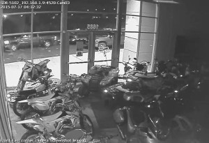Photo from surveillance footage taken at Moto United the night of the theft, St. George, Utah, July 16, 2015 | Photo courtesy of Moto United, St. George News