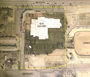 Site plan for a new elementary school to be built next to the Dixie Sunbowl on 100 North, St. George, Utah, July 30, 2015 | Image courtesy of the Washington County School District, St. George News