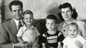 The Packer family, from left: Boyd, Allan, Kenneth, Donna and David, location not specified, circa  1952 | Photo courtesy of The Church of Jesus Christ of Latter-day Saints, St. George News