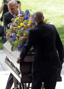 Pallbearers carry the casket of Mormon leader Boyd K. Packer during a memorial service at the Tabernacle, on Temple Square Friday, July 10, 2015, in Salt Lake City. Packer's death on July 3 at the age of 90 from natural causes left the religion with two openings on a high-level governing body called the Quorum of the Twelve Apostles. | AP Photo by Rick Bowmer, St. George News