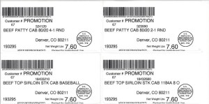 An example of a label on a recalled beef product | St. George News