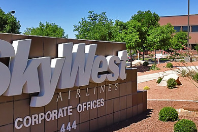 SkyWest Airlines, corporate offices, St. George, Utah, July 13, 2015 | Photo by Brett Barrett, St. George News
