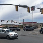 Intersection at Green Springs Drive and Telegraph Street in Washington City. The intersection is known as one of the most congested in the county. Washington City, Utah, July 7, 2015 | Photo by Mori Kessler, St. George News