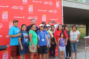 Jazmine Slama and her family and friends celebrate the lighting of the Flame of Hope and Dixie State University, St. George, Utah, July 3, 2015 | Photo by Nataly Burdick, St. George News