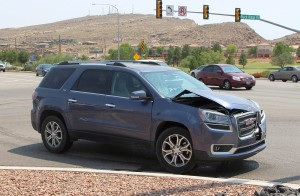 Failure to yield resulted in an accident on Dixie Crive Friday afternoon. St. George, Utah, August 21, 2015 | Photo by Ric Wayman, St. George News