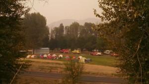 The firefighter's camp near Paul Louscher's house, I should be pretty safe, Twisp, Washington, August 24, 2015 | Photo courtesy of Paul Louscher, St. George News