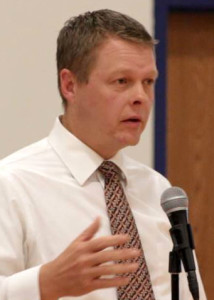 Enoch City, City Council Candidate for Election 2015 David Harris, Meet the Candidates Night, Enoch, Utah, July 29, 2015   Photo by Carin Miller, St. George News