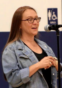 Enoch City, City Council Candidate for Election 2015 Cassie Easley, Meet the Candidates Night, Enoch, Utah, July 29, 2015   Photo by Carin Miller, St. George News