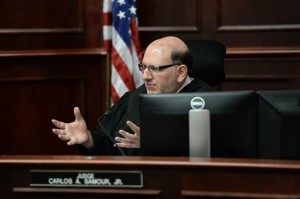 Judge Carlos Samour, Jr. speaks as he sentences  Colorado theatre shooter James Holmes on Wednesday, Aug. 26, 2015 in Centennial, Colo.  Holmes was formally sentenced to life in prison without parole.  Holmes killed 12 people and injured 70 others in the July 20, 2012 ambush. | AP Photo by RJ Sangosti The Denver Post, St. George News