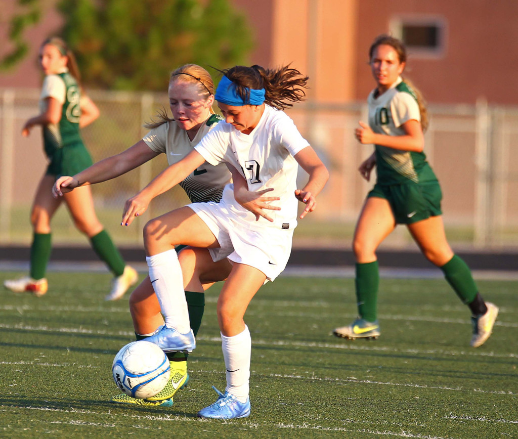 Snow Canyon vs. Syracuse, Girls Soccer, St. George, Utah, Aug. 20, 2015, | Photo by Robert Hoppie, ASPpix.com, St. George News