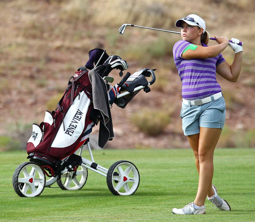 Taylor Bandley, file photo from JAG Junior Golf Tournament, St. George, Utah, Aug. 1, 2015, | Photo by Robert Hoppie, ASPpix.com, St. George News
