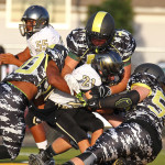 Diamond Ranch Academy vs. Desert Hills JV, Football, Hurricane, Utah, Aug. 27, 2015, | Photo by Robert Hoppie, ASPpix.com, St. George News