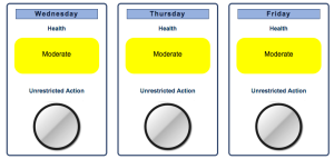 Air quality forecast for Washington County   Image courtesy Utah Department of Environmental Quality, St. George News