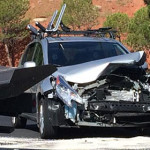 The aftermath of a two-car collision at 100 South and Bluff Street, St. George, Utah, Aug. 3, 2015 | Photo by Mori Kessler, St. George News