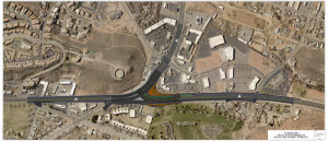 UDOT's new design for the Bluff Street and Sunset Boulevard intersection | Image courtesy of Utah Department of Transportation, St. George News
