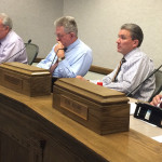 Councilmen weigh heavy decisions during the Cedar City Council meeting, Cedar City Council Chambers, Cedar City, Utah, Aug. 19, 2015 | Photo by Carin Miller, St. George News