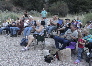 All ages came to enjoy Beans & Wheels perform at second of four in a series of Campfire Concerts in the Canyons aimed at raising awareness for the Southwest Wildlife Foundation, Cedar Canyon Nature Park, Cedar City, Utah, July 31, 2015 | Photo by Carin Miller, St. George News