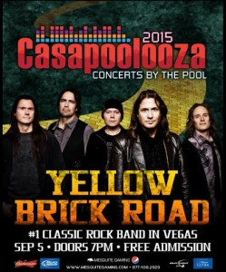 Event flyer for Casapoolooza featuring Yellow Brick Road, Mesquite Nevada, date not specified   Flyer courtesy Mesquite Gaming, St. George News Click image to enlarge
