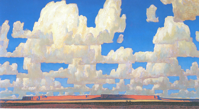 """Maynard Dixon painting on display at the """"Maynard Dixon Country"""" event 