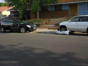 An accident Thursday  morning damaged two vehicles and left one man injured, Santa Clara, Utah, Aug. 20, 2015 | Photo by Julie Applegate, St. George News