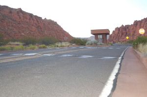 Speed bumps located at the south entrance of Snow Canyon State Park, Ivins, Utah, Aug. 24, 2015 | Photo by Hollie Reina, St. George News