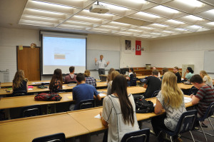 Matt Smith, a Dixie State University adjunct math professor, teaching a SUCCESS Academy class on the Dixie State University campus, St. George, Aug. 26, 2015 | Photo courtesy of Dixie State University, St. George News