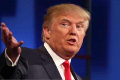 Republican presidential candidate Donald Trump, at the first Republican presidential debate at the Quicken Loans Arena in Cleveland, Ohio, Aug. 6, 2015 | AP file photo, St. George News