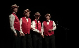 A barbershop quartet from the St. George Musical Theater performing at the Electric Theater Center's Grand Opening, St. George, Utah, Aug 28, 2015 | Photo by Mori Kessler, St. George News