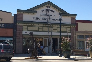 Though the grand opening is underway, some work on the Electric Theater Center continues, St. George, Utah, Aug 28, 2015 | Photo by Mori Kessler, St. George News