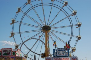The Ferris wheel, one of the carnivals most iconic staples stands at the entrance of the City of Fun Carnival at the Washington County Fair, Hurricane, Utah, August 8, 2014 | Photo by Hollie Reina, St. George News