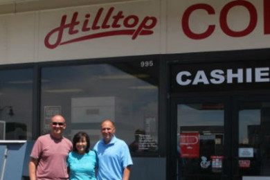 From left: Troy Newby, Jeri Newby, Jeff Newby at Hilltop Conoco, St. George, Utah, July 31, 2015   Photo Courtesy of Jeff Newby, St. George News