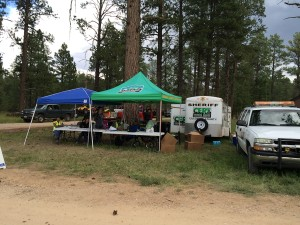 Incident command for search of 5-year-old Jerold Williams, Kaibab National Forest, Jacob Lake, Arizona, Aug. 9, 2015 | Photo by Cami Cox Jim, St. George News
