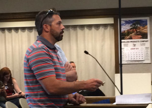 Watson Engineering Owner Tim Watson asks City Council to approve the final plat for the Windmill Plaza Subdivision, Cedar City Council Chambers, Cedar City, Utah, August 20, 2015 | Photo by Carin Miller, St. George News