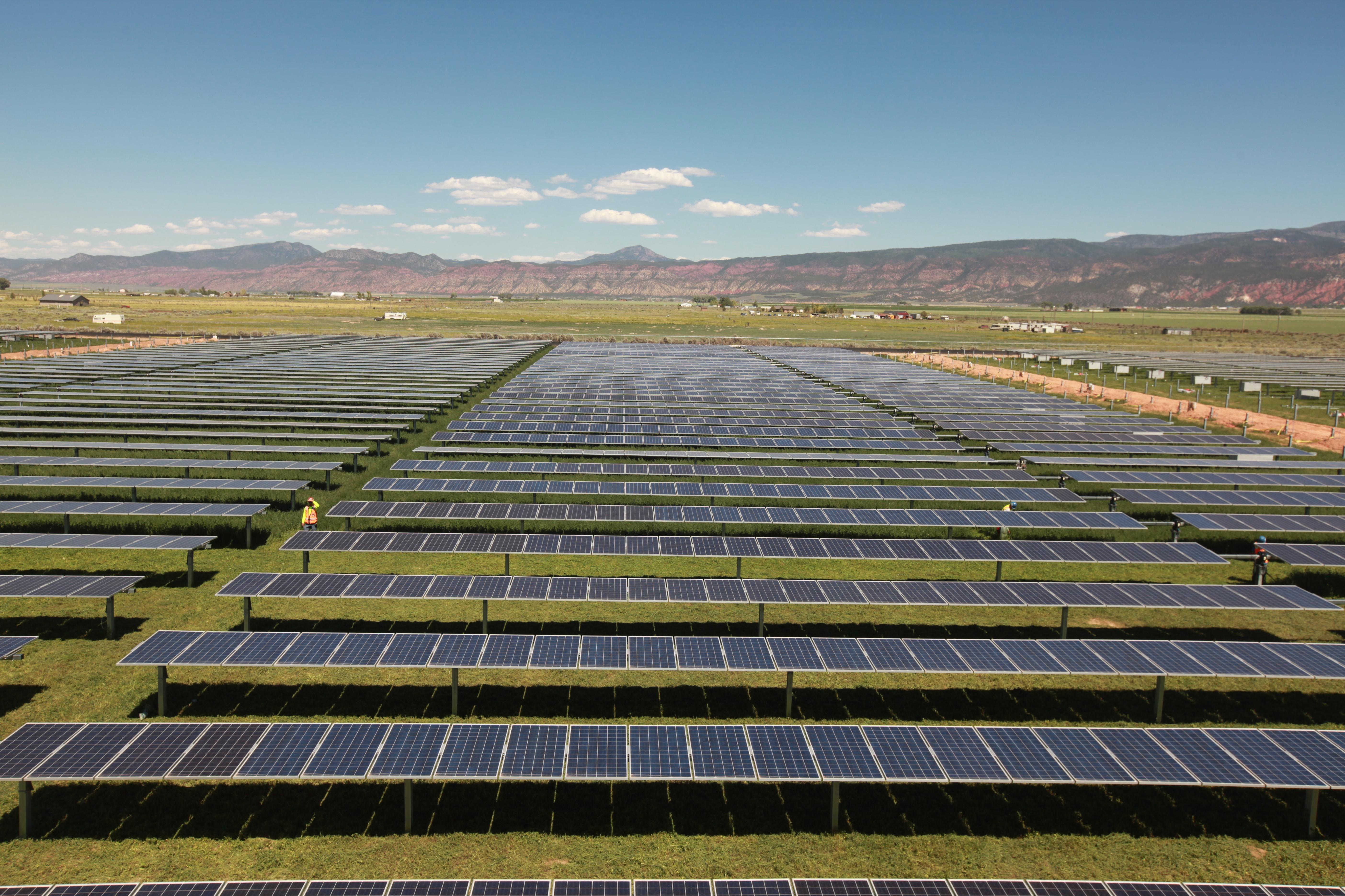 Utah Red Hills Renewable Park solar project, Parowan, Utah, circa Jan-July 2015 | Photo courtesy of Scatec Solar North America, St. George News