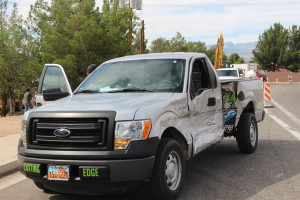 Driver of a Dodge Ram failed to yield left-hand turn and collided with Ford truck, River Road, St. George, Utah | Photo by Jessica Tempfer, St. George News