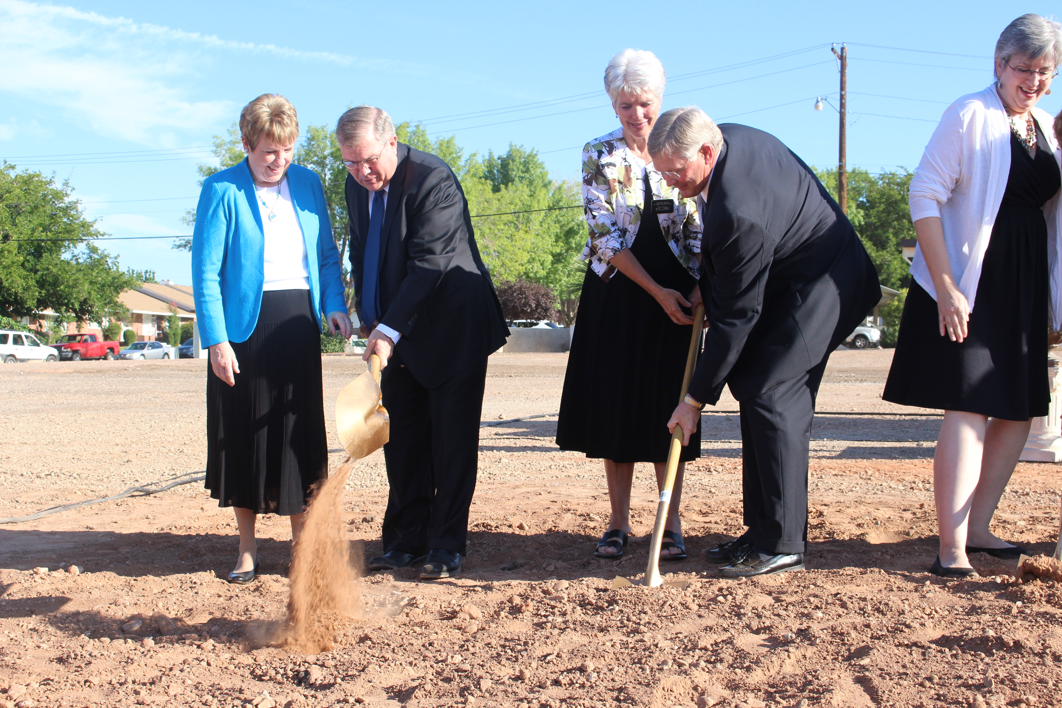 LDS Church Leaders Take Part In The Groundbreaking Ceremony For A New Family Research Center