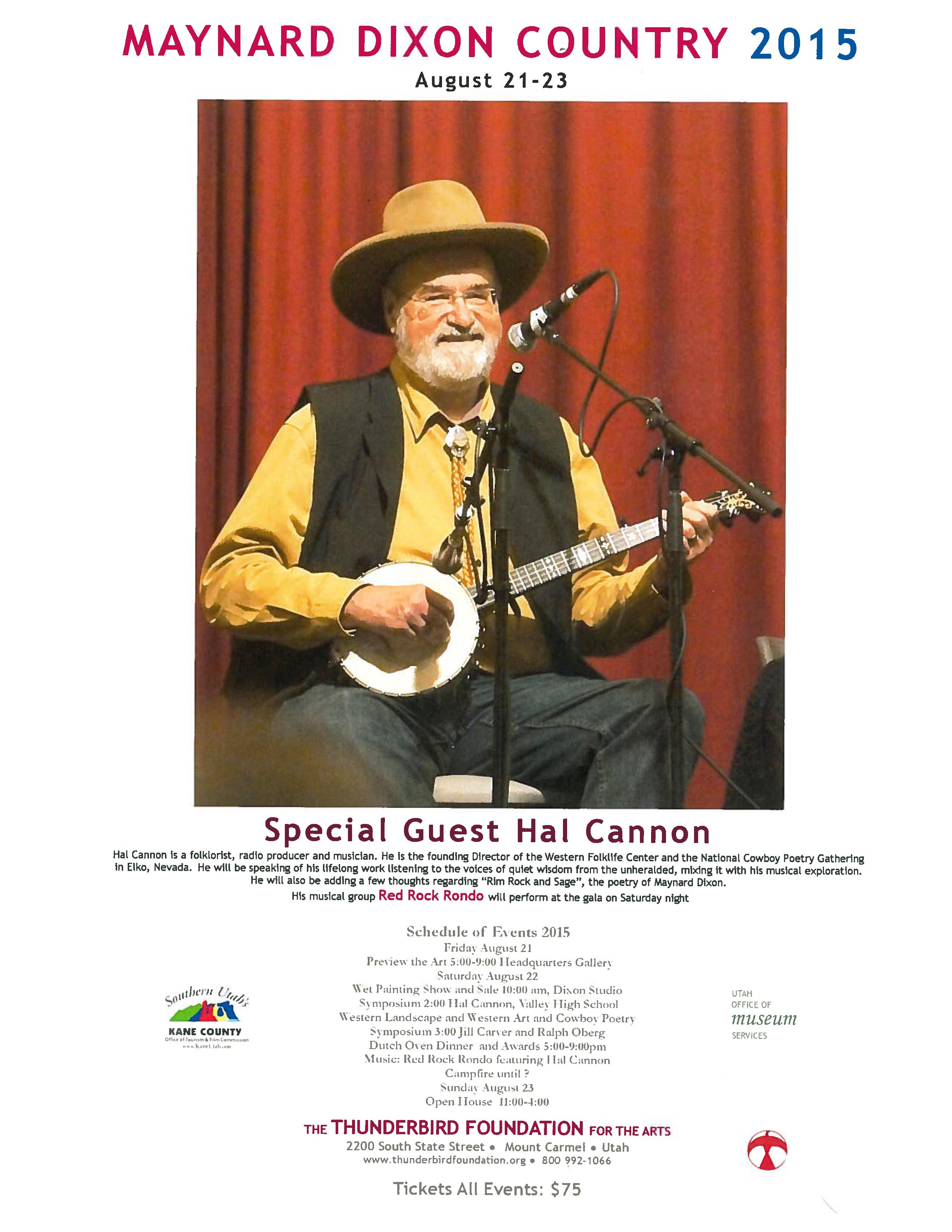 Maynard Dixon Country symposium flyer | Image courtesy of the symposium, St. George News