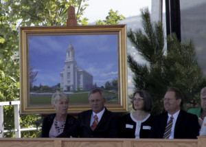 Thousands gather for the groundbreaking of the new Cedar City Utah Temple, 300 S. Cove Drive, Cedar City, Utah, August 8, 2015 | Photo taken by Carin Miller, St. George News