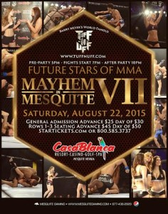 """Mayhem in Mesquite VII"" event flyer, Mesquite, Nevada, date not specified 