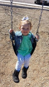 Bentley Boore, 2 years old, is missing from Cedar City, Utah, Aug. 8, 2015. She was last seen wearing the same clothing as in the photo. | Photo courtesy of Cedar City Police Department, St. George News
