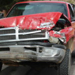 The driver of a Dodge Ram failed to yield while making a left-hand turn and collided with a Ford truck, St. George, Utah, Aug. 4, 2015   Photo by Jessica Tempfer, St. George News