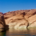 The jumping rocks at Sand Hollow State Park will be closed this weekend for trash removal, Hurricane, Utah, Aug. 24, 2015 | Photo by Julie Applegate, St. George News