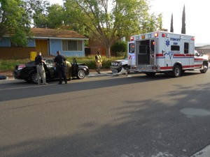 Glare from the early morning sun contributed to an accident on Crestview Drive, Santa Clara, Utah. Aug. 20, 2015 | Photo by Julie Applegate, St. George News