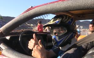 A driver prepares for his round in the pit, Washington County Fair, Washington County Regional Park, Hurricane, Utah, Aug. 15, 2015