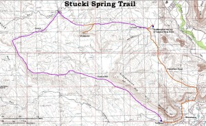 Stucki Spring Trail map | Image courtesy of University of Utah, St. George News