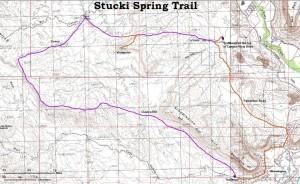 Stucki Spring Trail map | Image courtesy of University of Utah, St. George News