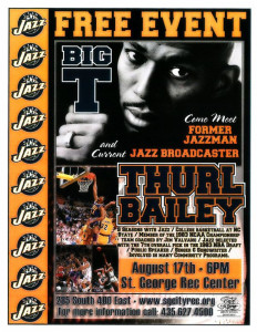 Thurl Bailey will be appearing at the City of St. George Recreation Center Aug. 17 | Flyer courtesy of City of the St. George, St. George News | Click on flyer to enlarge