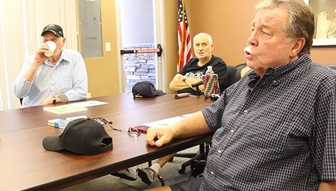 Larry Harris (right) an Army veteran, discusses his experience with the Choice Program with other veterans at the St. George Vet Center including Marlin Halford (left). St. George, Utah, August 21, 2015 | Photo by Nataly Burdick, St. George News